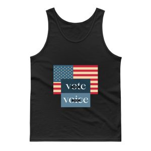 Your Voice Your Vote Retro Vintage Us Flag Tank Top