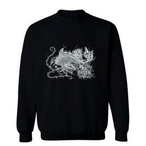 Zen Koi Tattoo White Sweatshirt