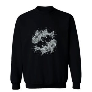 Zodiac Fish Circle Sweatshirt