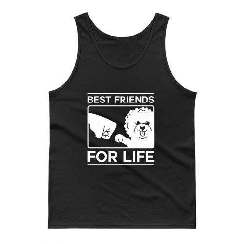 Best Friends For Life Bichon Frise Dog Owner Christmas Tank Top