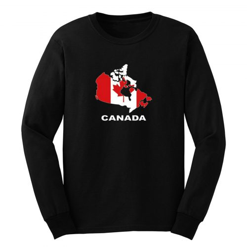 Canada Country Map Color Long Sleeve