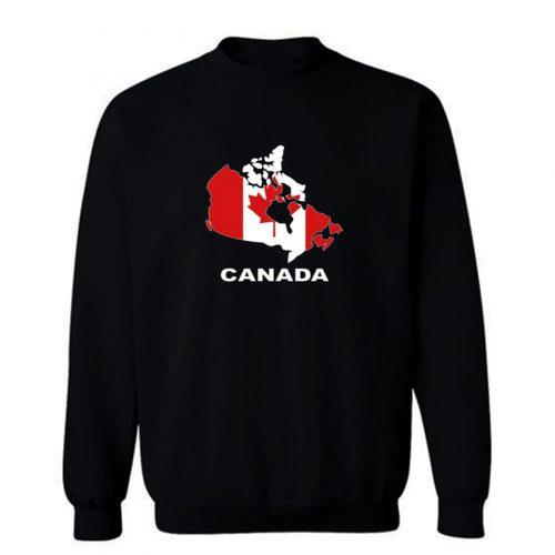 Canada Country Map Color Sweatshirt