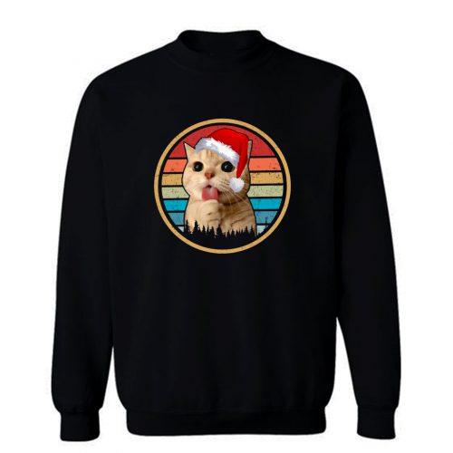 Cat Christmas Vintage Sweatshirt