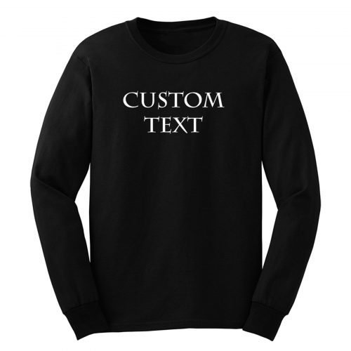 Custom Printing Long Sleeve