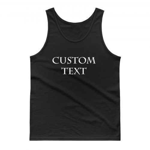 Custom Printing Tank Top