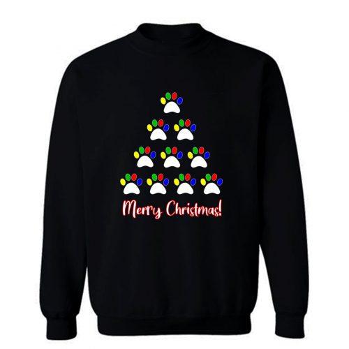 Dog Paw Christmas Sweatshirt