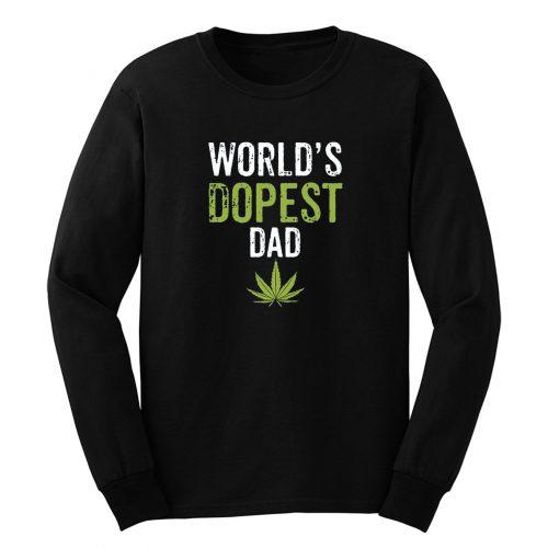 Father Dad Marijuana Weed Cannabis Leaf Fathers Day Long Sleeve