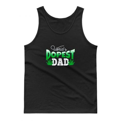 Father Dad Marijuana Weed Cannabis Leaf Fathers Tank Top