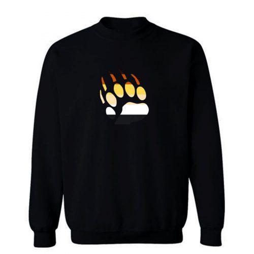 Gay Pride Bear Paw Sweatshirt