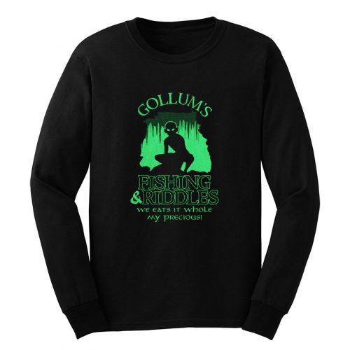 Gollums Fishing And Riddles Long Sleeve