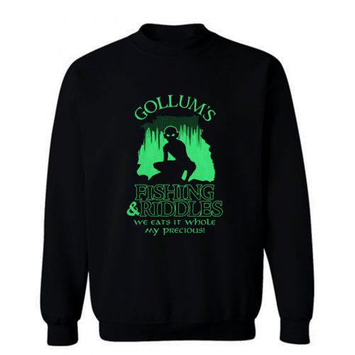 Gollums Fishing And Riddles Sweatshirt