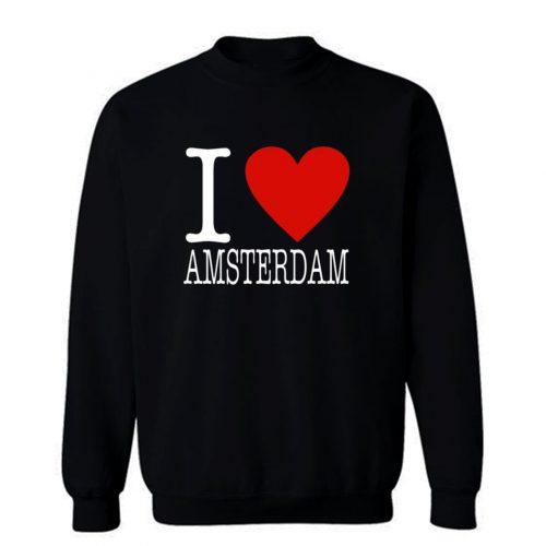 I Love Amsterdam Classic Sweatshirt