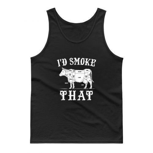 Id Smoke That BBQ Cooking Tank Top