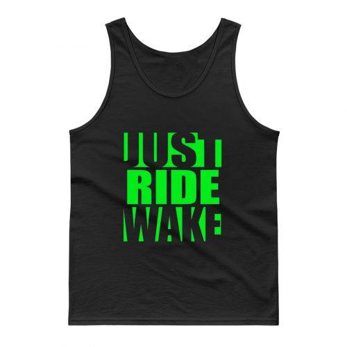 Just Ride Wake Green Tank Top