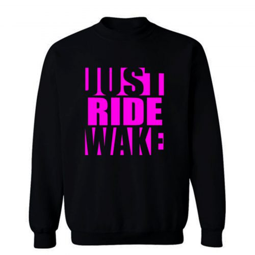 Just Ride Wake Purple Sweatshirt