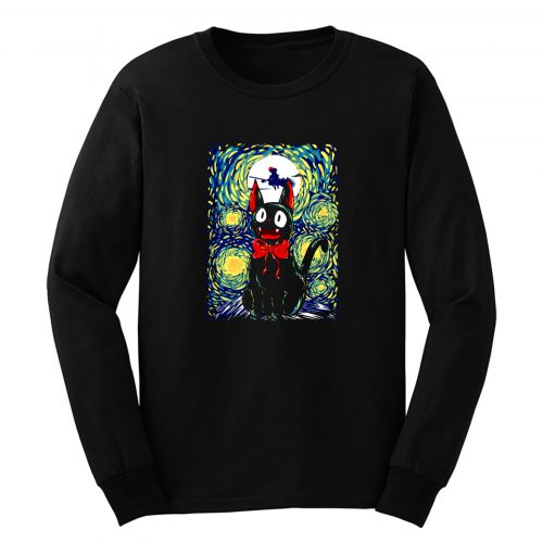 Kikis Delivery Service Starry Night Art Long Sleeve