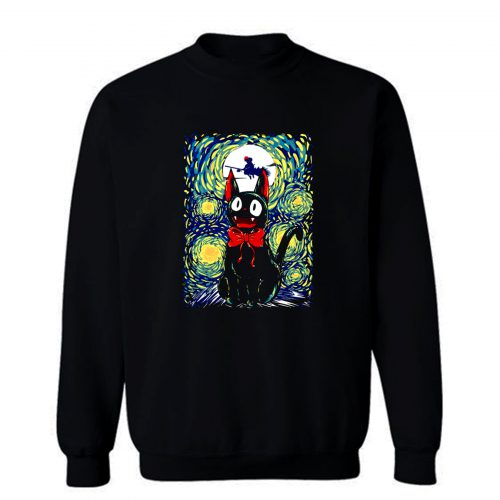Kikis Delivery Service Starry Night Art Sweatshirt