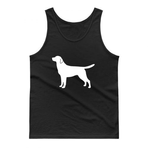 Labrador Retriever Silhouette Tank Top