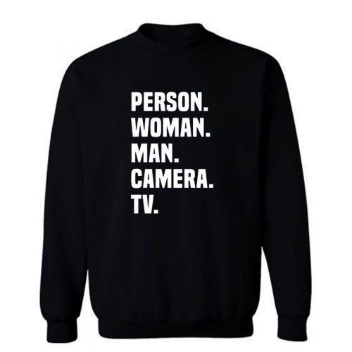 Person Woman Man Camera Tv Sweatshirt