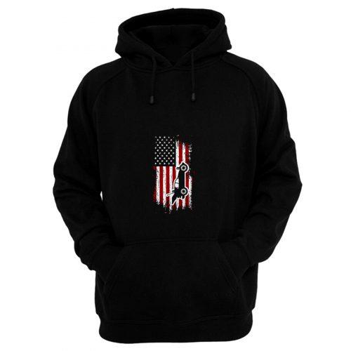RC Cars American Flag Hoodie