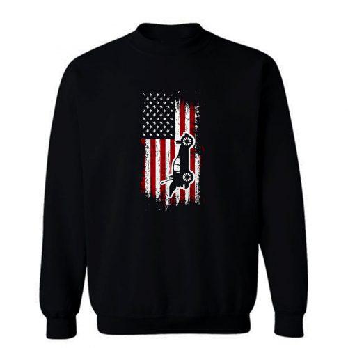 RC Cars American Flag Sweatshirt