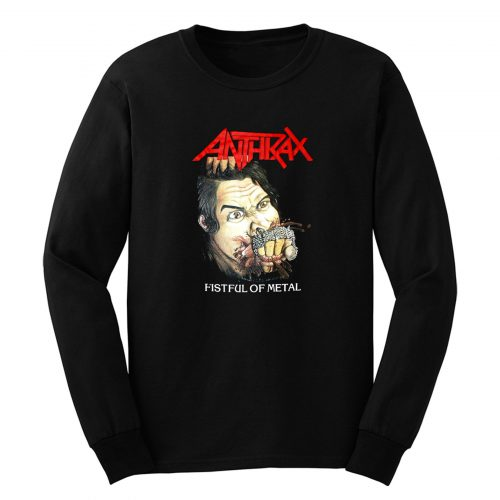 Anthrax Fistful Of Metal Long Sleeve