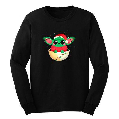 Christmas Cute Baby Yoda Long Sleeve