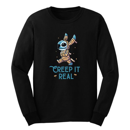 Creep It Real Funny Cute Spooky Stitch Long Sleeve