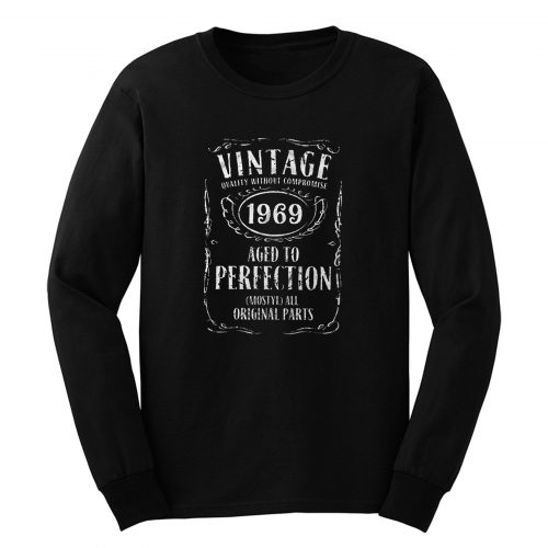 Custom Number Personalised Aged To Perfection Christmas Long Sleeve