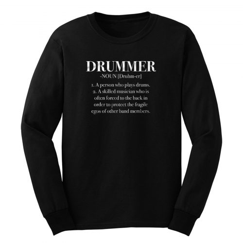 Definition Musican Drums Guitar Bass Rock Band Long Sleeve