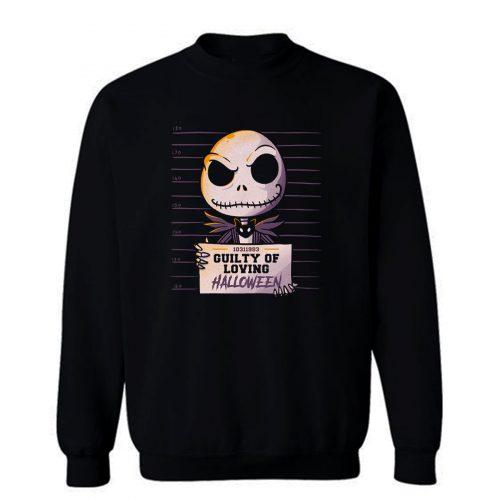 Guilty Jack Cute Skellington Mugshot Sweatshirt