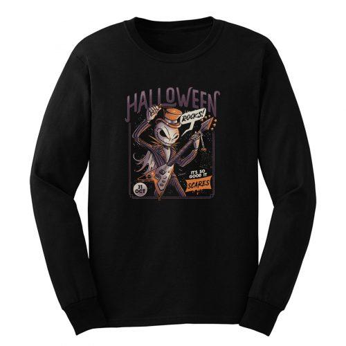 Halloween Rocks Spooky Skellington Rocker Long Sleeve