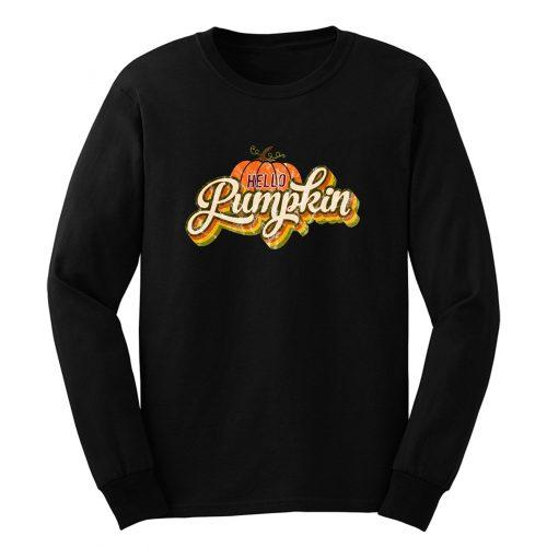 Hello Pumpkin Retro Long Sleeve