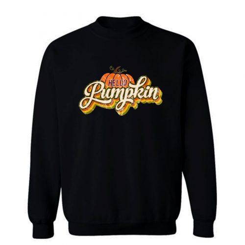 Hello Pumpkin Retro Sweatshirt