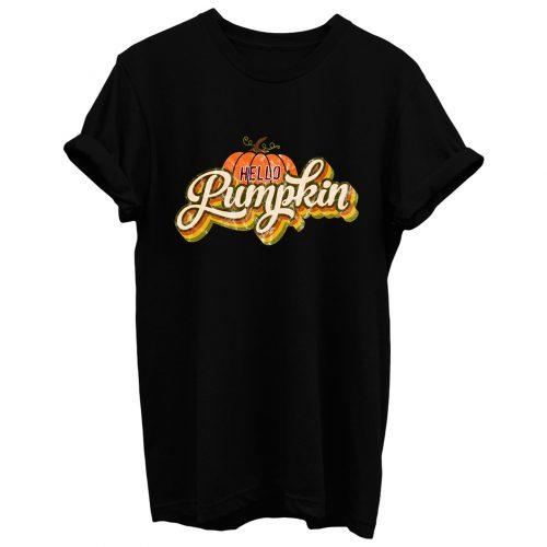 Hello Pumpkin Retro T Shirt