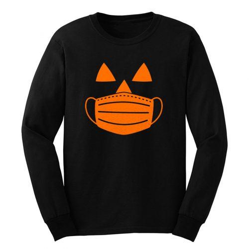 Jack O Lantern Pumpkin With Mask Halloween Costume Long Sleeve