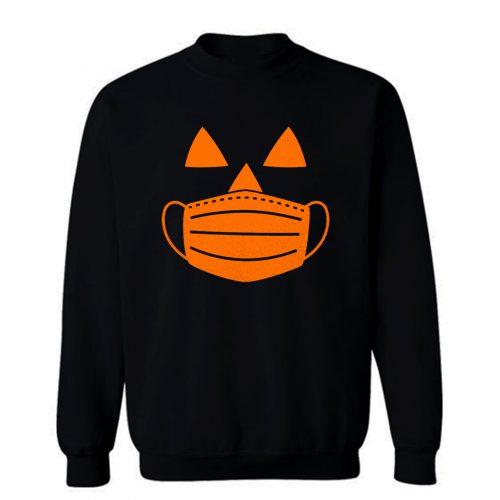 Jack O Lantern Pumpkin With Mask Halloween Costume Sweatshirt