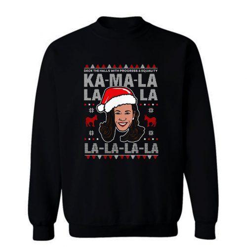 Kamala Harris Deck The Halls Ugly Christmas Sweatshirt