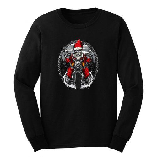 Motorcycle Santa Claus Long Sleeve