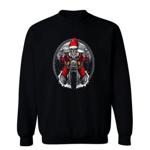 Motorcycle Santa Claus Sweatshirt