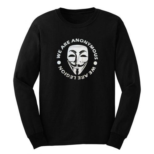 Mr Robot Hacker Illuminati Nwo Mask Face Guy Fawkes Long Sleeve