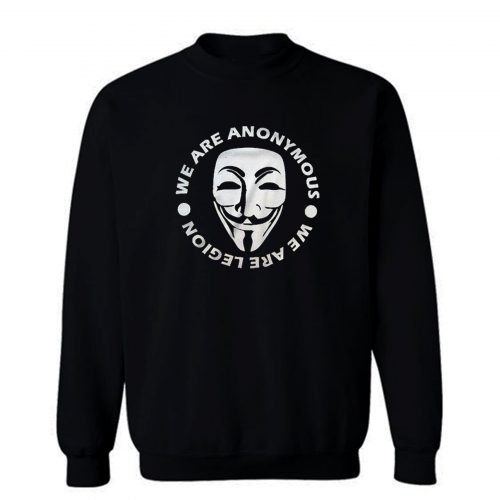Mr Robot Hacker Illuminati Nwo Mask Face Guy Fawkes Sweatshirt