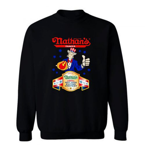 Nathans Famous Hot Dog Since 1916 Eating Contest Stars Sweatshirt