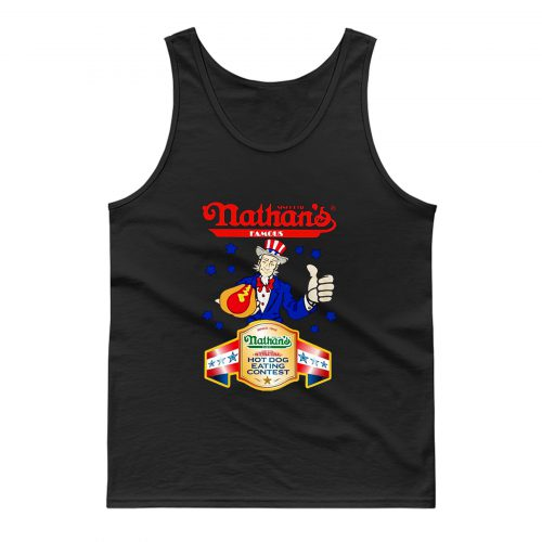 Nathans Famous Hot Dog Since 1916 Eating Contest Stars Tank Top