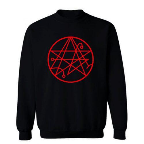Necronomicon Stars Symbol Metal Sweatshirt