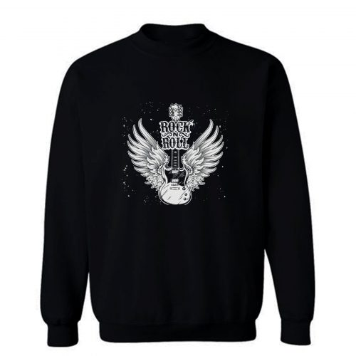 Rock N Roll Wings Guitar Sweatshirt