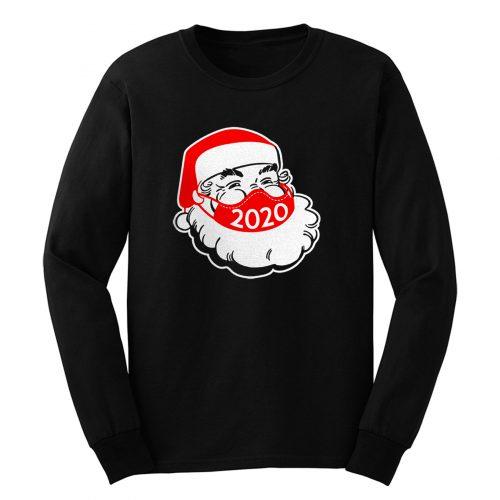 Santa Claus Wearing Face Mask Christmas 2020 Long Sleeve