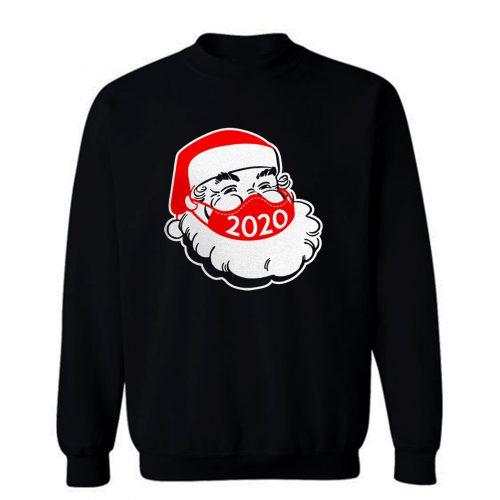Santa Claus Wearing Face Mask Christmas 2020 Sweatshirt