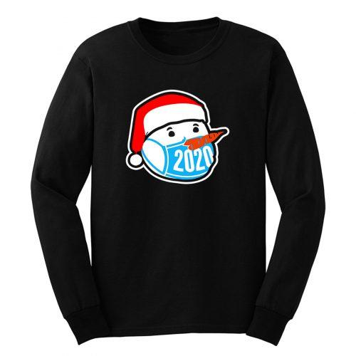 Snowman Wearing Face Mask Christmas 2020 Long Sleeve