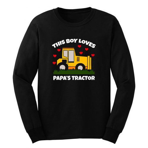 This Boy Loves Papas Tractor Long Sleeve